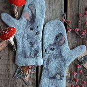 Аксессуары handmade. Livemaster - original item Mittens: Pussies. Handmade.