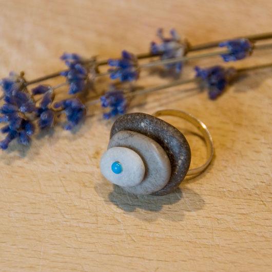 """Кольца ручной работы. Ярмарка Мастеров - ручная работа. Купить Кольцо """"Галька"""". Handmade. Комбинированный, кольцо ручной работы, бохо"""