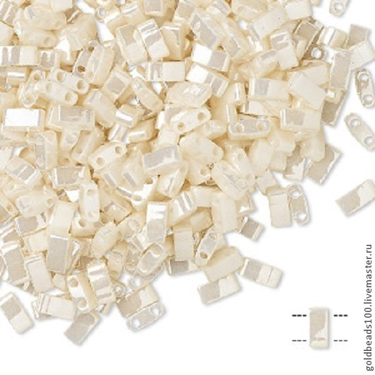 Для украшений ручной работы. Ярмарка Мастеров - ручная работа. Купить MIYUKI Half-Tila 592  opaque ceylon antique ivory pearl. Handmade.