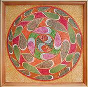 """Картины и панно ручной работы. Ярмарка Мастеров - ручная работа Картина Мандала """"Лунные диски"""". Handmade."""