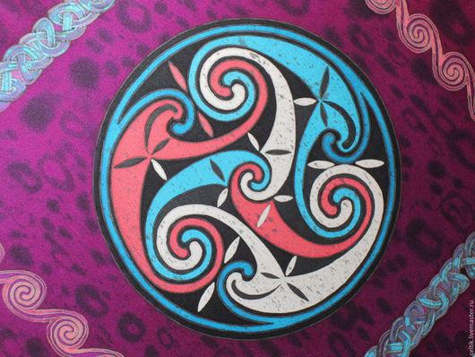 """Шарфы и шарфики ручной работы. Ярмарка Мастеров - ручная работа. Купить Платок """"Кельтские мотивы"""".. Handmade. Кельтский орнамент"""