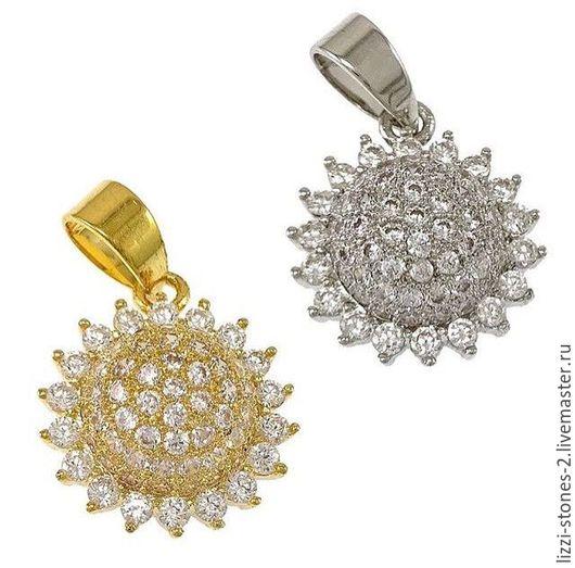 Подвеска Цветок серебро и золото (Milano) Евгения (Lizzi-stones-2)
