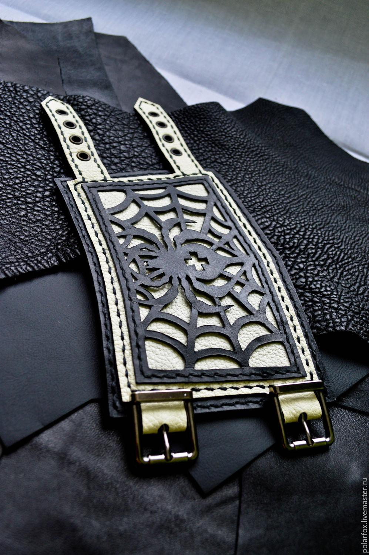 2d9c5a6078db Ярмарка Мастеров - ручная работа. Купить Кожаный браслет - Паутина. Браслеты  ручной работы. Кожаный браслет - Паутина. Irrka PolarFox.