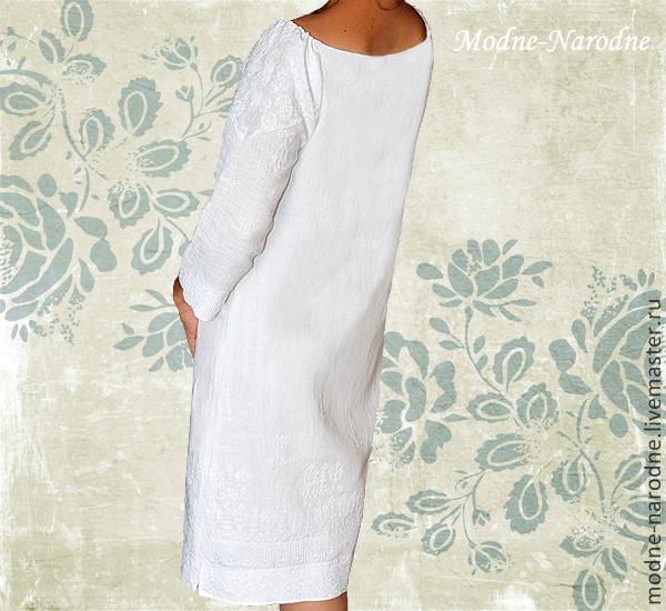 8f50c66b135 Творческое Льняное Платье с Ручной Вышивкой Нарядное-Ненаглядное. Модная  одежда с ручной вышивкой. Творческое