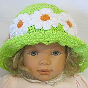 Аксессуары handmade. Livemaster - original item BRETON HAT for girls summer knit. Handmade.