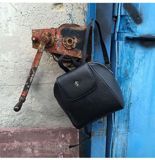 Рюкзаки ручной работы. Ярмарка Мастеров - ручная работа. Купить Кожаный рюкзак Melody. Handmade. Черный, рюкзачок