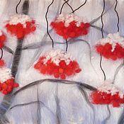 """Картины и панно ручной работы. Ярмарка Мастеров - ручная работа картина шерстью """"Зима-пора любви"""". Handmade."""