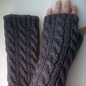 Аксессуары handmade. Livemaster - original item Mitts, 12 braid, color morengo. Handmade.