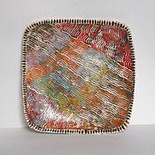 """Посуда ручной работы. Ярмарка Мастеров - ручная работа Тарелка """"Лето"""". Handmade."""