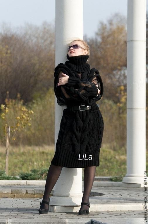 Платья ручной работы. Ярмарка Мастеров - ручная работа. Купить Платье вязаное Ротонда. Handmade. Платье вязаное, платье