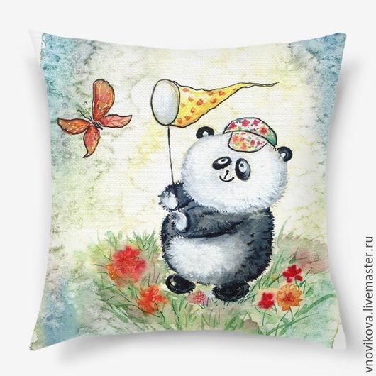 ` Панда и бабочка `
