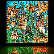 Картины и панно handmade. Livemaster - original item The picture is illuminated in the style of art Nouveau and art Deco Mermaid. Handmade.