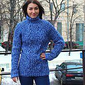 """Одежда ручной работы. Ярмарка Мастеров - ручная работа свитер """"Fishermen""""сине-белый. Handmade."""
