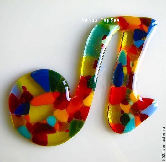 Элементы интерьера ручной работы. Ярмарка Мастеров - ручная работа. Купить фьюзинг, буквы из стекла  Счастье. Handmade. Лилия Горбач
