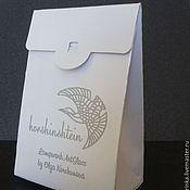 Материалы для творчества ручной работы. Ярмарка Мастеров - ручная работа Пакетик-коробочка 6х9х3,5 см с вашим логотипом. Handmade.