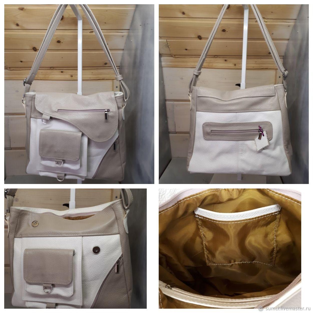 Leather bag 7 pockets, Classic Bag, Zvenigorod,  Фото №1