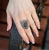 Украшения handmade. Livemaster - original item Ring the Golden lion (insert - bronze). Handmade.