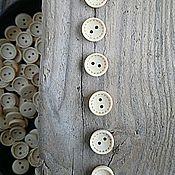 Материалы для творчества ручной работы. Ярмарка Мастеров - ручная работа пуговки деревянные светлые рантик 13 мм. Handmade.