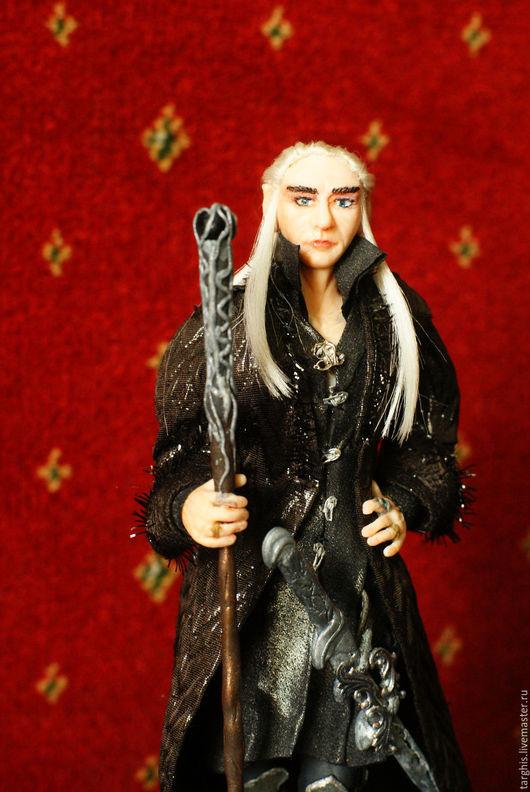 Коллекционные куклы ручной работы. Ярмарка Мастеров - ручная работа. Купить Трандуил король Лихолесья. Handmade. Чёрно-белый