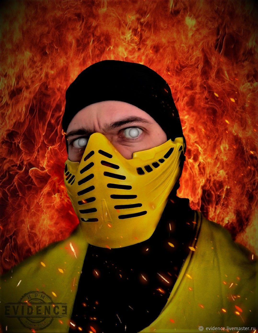 Картинки скорпиона из мортал комбат маска