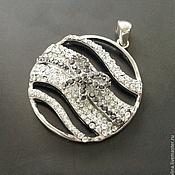 Материалы для творчества handmade. Livemaster - original item Large pendant art. 3-22 brass with cubic Zirconia. Italy. Handmade.