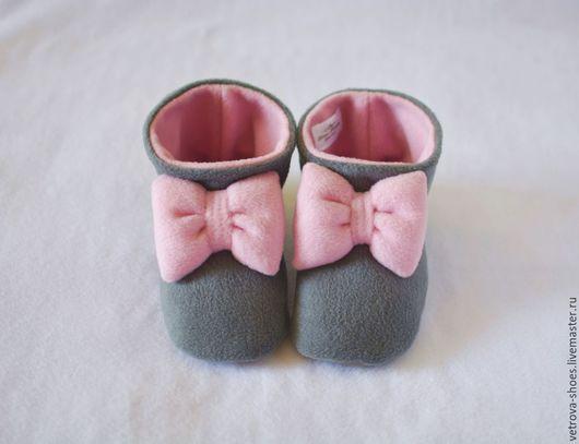 """Обувь ручной работы. Ярмарка Мастеров - ручная работа. Купить Домашние сапожки """"уютный вечер"""". Handmade. Серый, пастель, роза"""