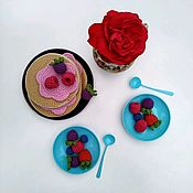 Кукольная еда ручной работы. Ярмарка Мастеров - ручная работа Вязаные игрушки, вязаная еда, блины. Handmade.