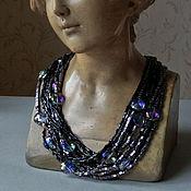 Украшения handmade. Livemaster - original item Evening necklace and earrings. Handmade.