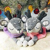 Мягкие игрушки ручной работы. Ярмарка Мастеров - ручная работа Олени-пижамницы. Handmade.