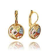 Украшения handmade. Livemaster - original item Yellow-orange earrings for yourself