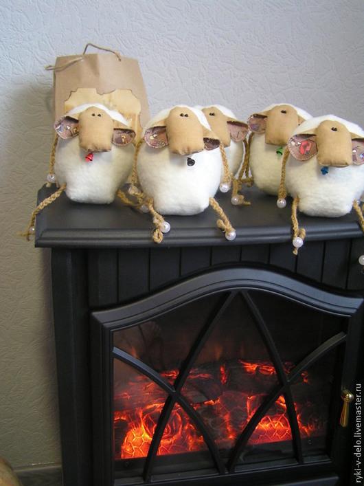 Игрушки животные, ручной работы. Ярмарка Мастеров - ручная работа. Купить овца-овечка-овечечка. Handmade. Тильда овечка