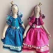 Куклы и игрушки ручной работы. Ярмарка Мастеров - ручная работа Принцессы Малинка и Голубичка. Handmade.