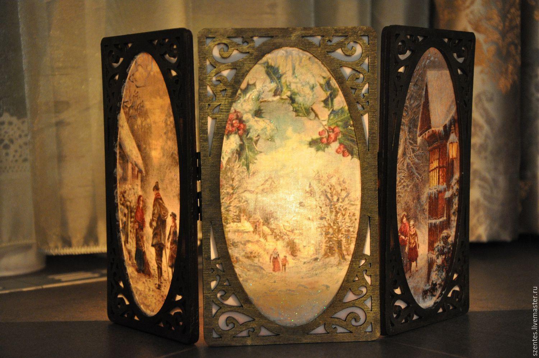 Buy Candle holder , Christmas magic, on Livemaster online shop
