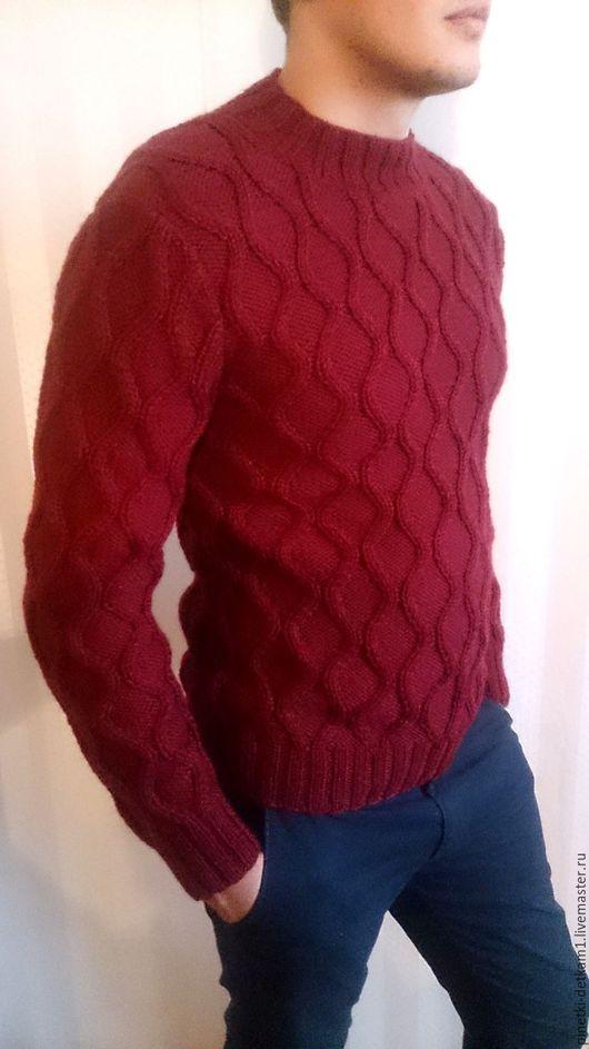 Для мужчин, ручной работы. Ярмарка Мастеров - ручная работа. Купить Мужской свитер Соты. Handmade. Свитер, подарок мужчине