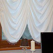 Для дома и интерьера ручной работы. Ярмарка Мастеров - ручная работа Французская штора в кабинет. Handmade.