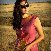 """Одежда ручной работы. Ярмарка Мастеров - ручная работа Туника """"розовый с золотом"""". Handmade."""