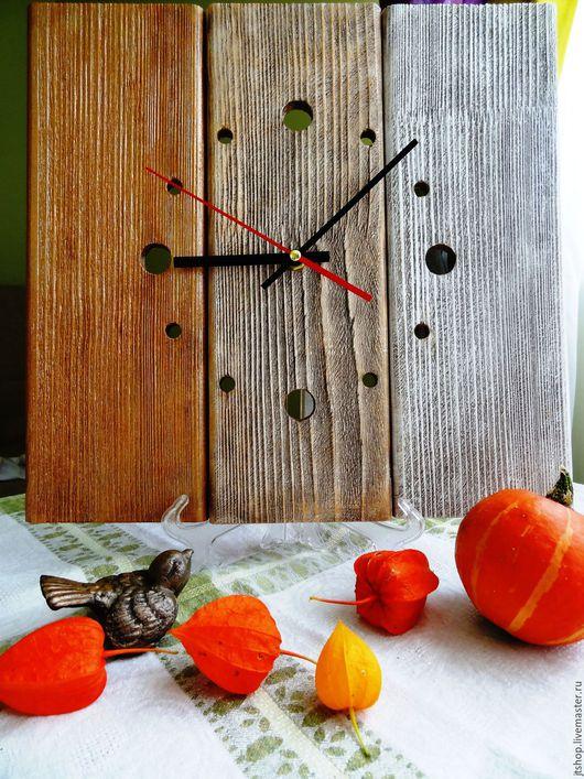 """Часы для дома ручной работы. Ярмарка Мастеров - ручная работа. Купить часы настенные деревянные """"Осенний минимализм """". Handmade."""