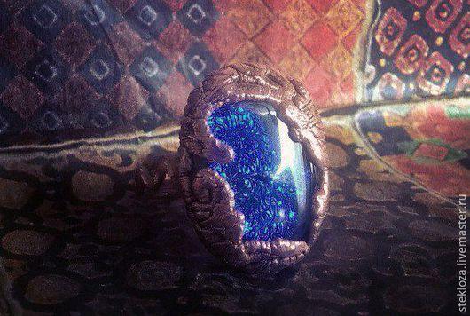 """Кольца ручной работы. Ярмарка Мастеров - ручная работа. Купить """"Волны"""" кольцо. Handmade. Синий, море, волна, корабль, гальваника"""
