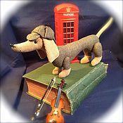 Куклы и игрушки ручной работы. Ярмарка Мастеров - ручная работа Такса Шерлок. Handmade.