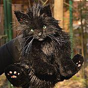 Куклы и игрушки ручной работы. Ярмарка Мастеров - ручная работа Черный кот Бэха. Handmade.