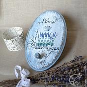 """Для дома и интерьера ручной работы. Ярмарка Мастеров - ручная работа Вешалка """"Королевская лаванда"""". Handmade."""