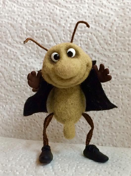 Миниатюра ручной работы. Ярмарка Мастеров - ручная работа. Купить Невоспитанный жук-таракан. Handmade. Жук, насекомые, сувениры и подарки