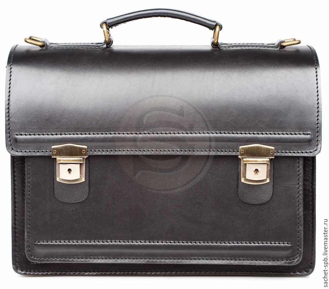 06aa5a8cc856 Мужские сумки ручной работы. Ярмарка Мастеров - ручная работа. Купить  Мужской кожаный портфель