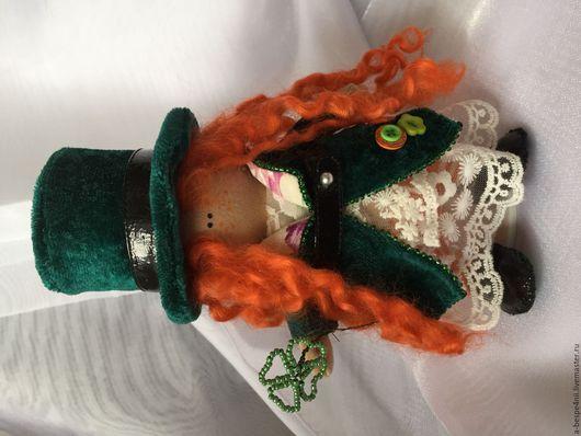 Куклы тыквоголовки ручной работы. Ярмарка Мастеров - ручная работа. Купить Лепрекон Лина. Handmade. Рыжий, тыквоголовка, лепрекон, кружево