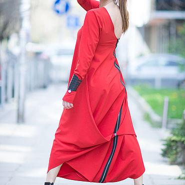 Одежда ручной работы. Ярмарка Мастеров - ручная работа Элегантный, красный комбинезон - JP0383PLV. Handmade.