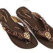 Обувь ручной работы handmade. Livemaster - original item Decor summer shoes Swarovski components. Handmade.