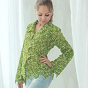 Одежда ручной работы. Ярмарка Мастеров - ручная работа Жакет «Весенняя зелень». Handmade.