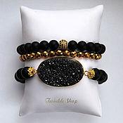 Украшения handmade. Livemaster - original item Set of bracelets made of shungite of