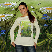 Одежда handmade. Livemaster - original item Wool soft turtleneck sweater with hand embroidery