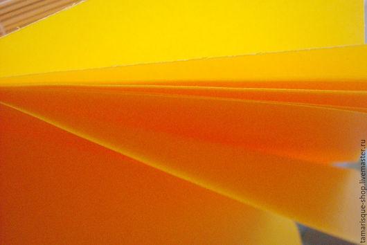 Открытки и скрапбукинг ручной работы. Ярмарка Мастеров - ручная работа. Купить Калька цветная «Солнечный зайчик». Handmade. Оранжевый